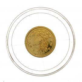 World's Smallest Coin Collection 14ct Gold Eagle Replica