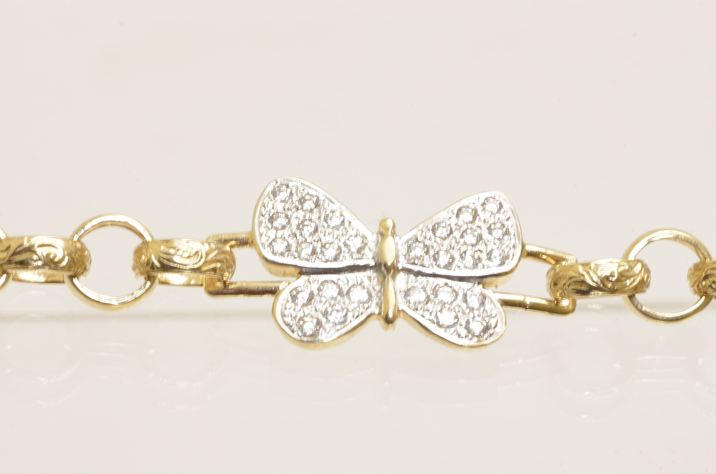 CZ Butterfly Bracelet